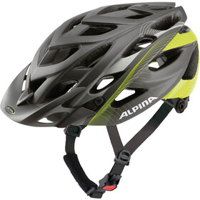 Alpina D-Alto Casco de bicicleta, anthracite-neon lines